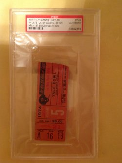 1974  NFL Ticket Stub