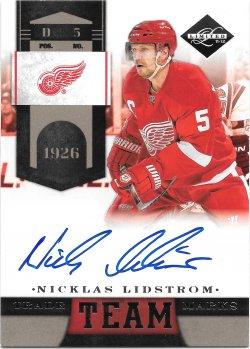 2011-12 Panini Limited Team Trademarks Signatures Nicklas Lidstrom