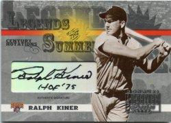 2003 Donruss Signature Series Ralph Kiner Legends of Summer Signature