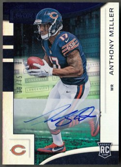 2018  R&S Rookies Longevity Signatures Blue Anthony Miller