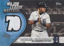Miguel Cabrera 2021 Topps Major League Material Black