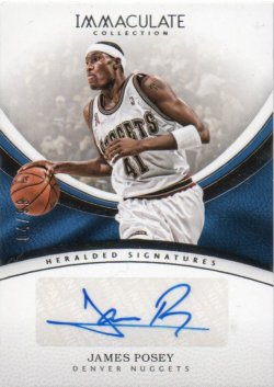 2016-17 Panini Immaculate Posey, James - Heralded Signatures