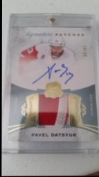 2016 Upper Deck The Cup  Pavel Datsyuk Signature Patches 24/99