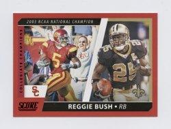 2021 Score Collegiate Champions Red #8 Reggie Bush