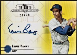 2014   Ernie Banks Topps Tribute Gold Parallel Auto /30