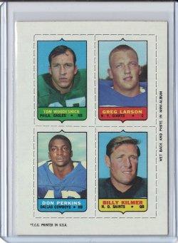 1969 Topps 4-In-1 Billy Kilmer