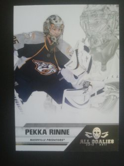 2011  Panini All Goalies Box Set Up Close #45 Pekka Rinne