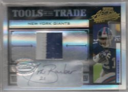 2004  Absolute Memorabilia Tiki Barber Tool of the Trade Material Jersey Prime