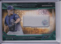 Craig Kimbrel 2015 Topps Strata Clearly Authentic Relics Green /75