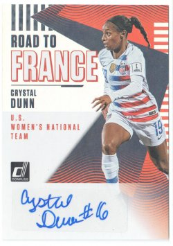2019 Donruss Road to France Autographs Crystal Dunn