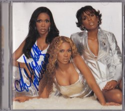 2001   Destinys Child Survivor Signed Album Cover By Michelle Williams IP