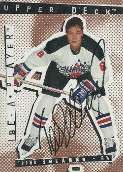 1994/95 Upper Deck Be A Player Autographs Selanne /600