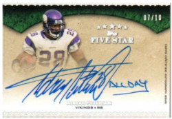 2010  Five Star Adrian Peterson Quotables Inscription Auto