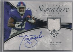 2006 Upper Deck Ultimate Collection Tiki Barber Game JerseyAutographs