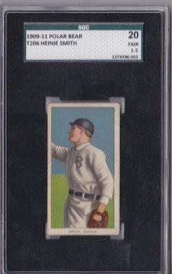 1909  T 206 Polar Bear Heinie Smith