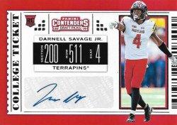 2019 Panini Contenders Draft Picks Darnell Savage Jr. 2019 Panini Contenders Draft Picks Autograph