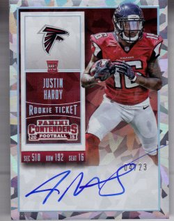 2015 Panini Contenders Cracked Ice Justin Hardy