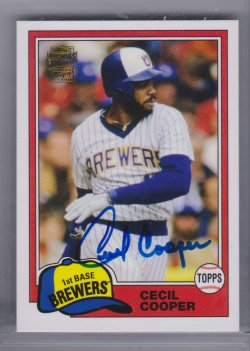 Topps archives  cecil cooper