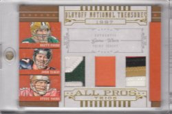 2008 Playoff National Treasures All Pros Material Trios Prime Favre/Elway/Young