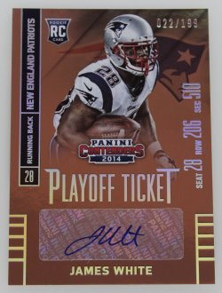 2014   James White Contenders Playoff Ticket Auto /199