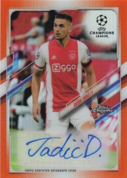 Dusan Tadic 2000-01 Topps Chrome UCL Orange Refractor Autograph