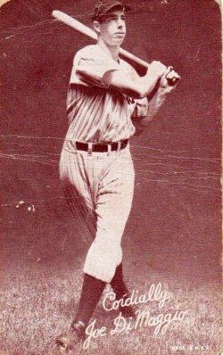 1939-46  Exhibits Salutation Joe DiMaggio