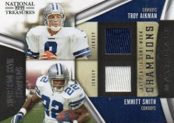 2009 Playoff National Treasures Troy Aikman/Emmitt Smith Champions Materials GU