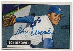 1951 Bowman  Don Newcombe autograph