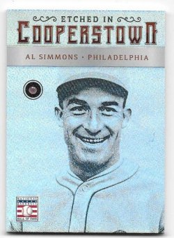 2015 Panini Cooperstown Al Simmons Etched In Cooperstown Ruby Gem