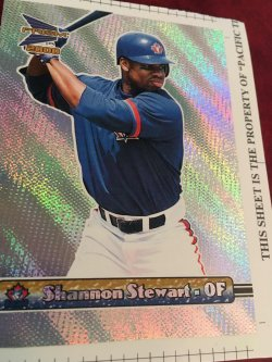2000  PACIFIC UNCUT PRISM SHANNON STEWART #148        Blue Jay  OF