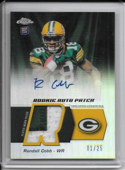 2011 Topps Chrome Rookie Autograph Patch - Randall Cobb