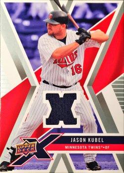 2008 Upper Deck X Memorabilia Jason Kubel UDXM-KU