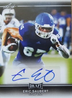 2017 Leaf Draft Eric Saubert Rc Auto