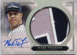 2020 Topps Five Star Mark Teixeira Auto Jumbo Patch Silver Rainbow