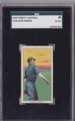 1909  T206 Sweet Caporal 150 Bob Ewing