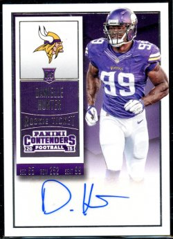 2015 Panini Contenders Rookie Ticket SSP Variation Auto Danielle Hunter