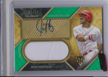 2017 Topps triple threads juan gonzalez