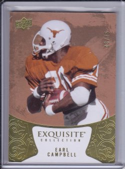 Earl Campbell 2014 UD Exquisite Collection /75