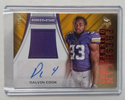 2017 Panini Rookies & Stars Dalvin Cook Freshman Orientation RC Auto Red