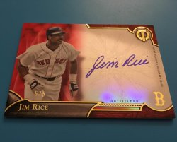 2016 Topps Tribute Jim Rice Red Parallel Autograph
