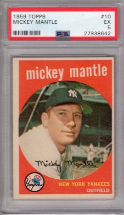 1959 Topps Topps Mickey Mantle