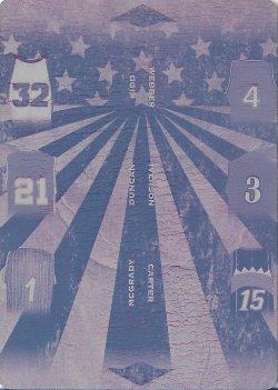 2019 Leaf In The Game Used Sports All-Star Game History 6 Relics Printing Plate Magenta Kidd / Webber / Duncan / Iverson / McGrady / Carter #ed 1/1