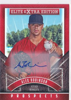 2015 Alex Robinson Elite Extra Edition Prospects Auto RC   Twins A8644