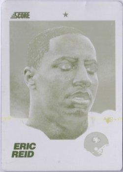2013 Score Yellow Printing Plate Eric Reid