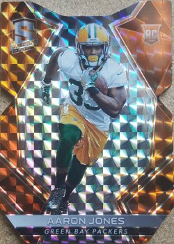 2017 Panini Spectra Aaron Jones RC Prizm Die Cut
