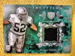 2014 Topps Inception Khalil Mack Rookie Patches Green Parallel
