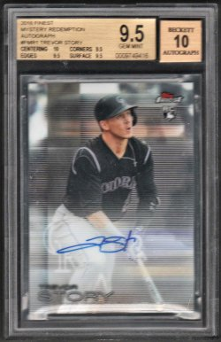 2016   Trevor Story Topps Finest Mystery Redemption Auto RC BGS 9.5/10