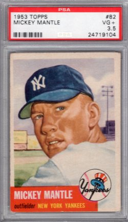 1953 Topps Topps Mickey Mantle