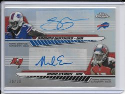 2014 Topps Chrome Dual Rookie Autograph - Mike Evans & Sammy Watkins