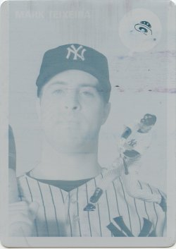 2012 Topps Archives Mark Teixeira Printing Plate Cyan